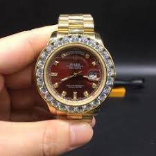 Watch Iced Everything Needed Diamond Bezel Replica Day Date – Gold Out Rolex