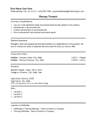 massage therapist resume template massage therapist resume template