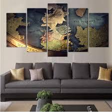 World Map Home Decor Aliexpresscom Buy 5 Panel World Map Traditonal Modern Wall