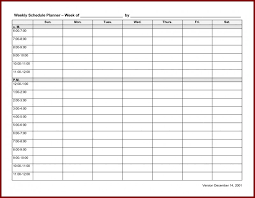 Blank Workout Schedule Template Awesome 4 Week Schedule Template Okl ...