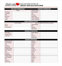 Generic Credit Application Form Template Ukcheer Template Source