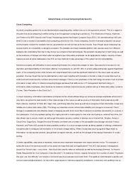 sample essay on cloud computing