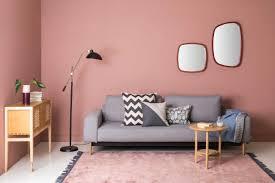 Weiblichkeit Im Interieur Durch Die Wandfarbe Altrosa Ausdrücken