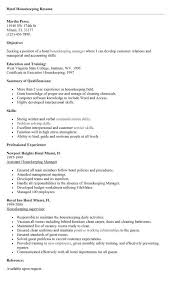 Executive Housekeeper Resume Amazing Good Professional Housekeeping Resume Example You Need To Become A