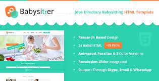 babysitting schedule template babysitters jobs directory babysitting html template by digisamaritan