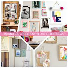 art framing ideas. Cheap Picture Frames - Inexpensive Alternatives For Hanging Wall Art   Curbly Framing Ideas