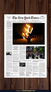 Creative Newspaper Template New York Times Newspaper Template