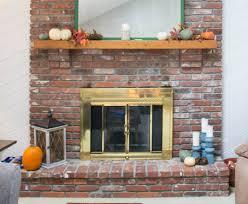 fireplace door update with spray paint
