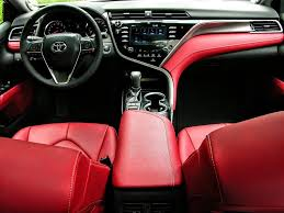 2018 camry interior. toyota camry 2018 white red interior elegant driven