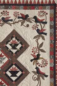 10 best Quilt Border Ideas images on Pinterest | Beautiful, Blue ... & I love the birds, black, red, and greensas well as multiple patters going  on in this quilt! love the piano keys treatment in the applique border . Adamdwight.com