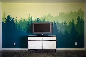 forest wall mural bedroom makeover