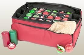Minimalist Christmas Red Ornament Storage Box With Red Fiber Christmas Ornament Storage