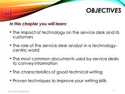 chapter technical writing skills for support professionals  2 objectives