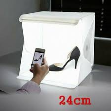 "Foldable 9"" LED Portable Mini <b>Photography Lightbox</b> Tent Kit For ..."