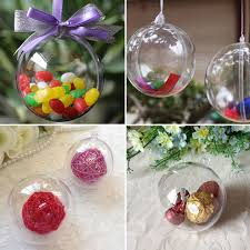 New 8cm Clear Christmas Decoration Hanging Ball Baubles Round Bauble  Ornament Xmas Tree Home Decor Christmas
