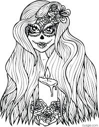 Sugar Skull Coloring Pages For Adults Tonyshume