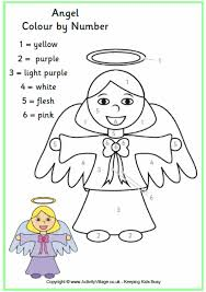 Small Picture Angel Colouring Pages