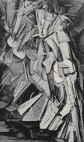 cubism and futurism art duchamp nude descending a staircase