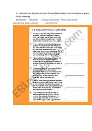 Organizational Chart Esl Worksheet By Mbberruezo