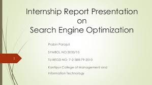 Seo Interns Seo Presentation Report