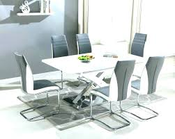 round gloss dining table magnificent round dining table with 6 chairs white round extending dining table