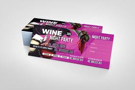 Ticket Design Wine Party Event Ticket Design Template Graphic Templates