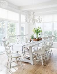 8 windsor dining room white trestle dining table with white windsor dining chairs