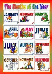 Months Of The Year Year 3 Għajnsielem Primary School