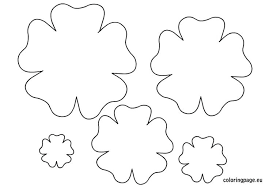 Paper Flower Print Out Printable Paper Rose Template Download Them Or Print