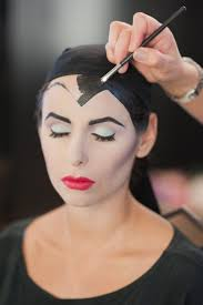 maleficent angelina jolie makeup tutorial transformation y costume pin sharp angled brows lashes we love how