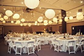 gallery of vintage wedding decorations ideas with round lanterns and string lamps also round tables plus