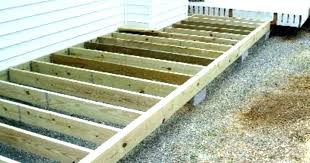 building floating deck laying the structure diy
