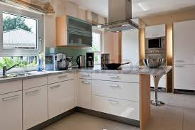 Modern House Interior Of Modern Kitchen Room  Stock Photo Kitchen Room Interior