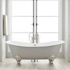72 lena cast iron clawfoot tub monarch imperial feet medium gray bathroom