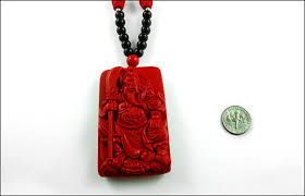 chinese of war carved cinnabar necklace meaningful necklaces for guys