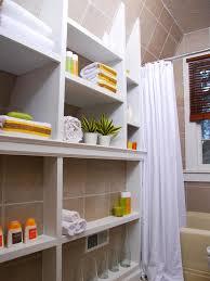 Diy small bathroom storage ideas with built in bathtub and white ...
