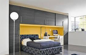 Modern Teenage Bedrooms Grey Modern Teenage Bedrooms With Built In Cabinets And Platform