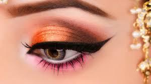 kashees orange y eye makeup