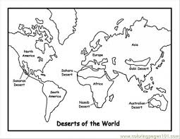 Small Picture Map Of Deserts Coloring Page Free Maps Coloring Pages