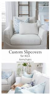 custom slipcovers for my ikea armchairs