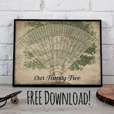 Lds Genealogy Fan Chart Free Free Download Printable 6 Generation Custom Family Tree Fan