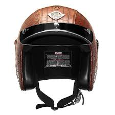 1 x helmet more detailed photos 3 4 face mask pu leather motorcycle