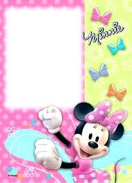 Free Minnie Mouse Birthday Invitations Mouse Invitations Together With A Picturesque View Of Your