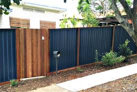 corrugated metal fence regarding best and gate ideas plan architecture corrugated metal fence