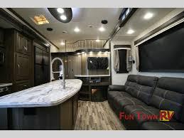 evergreen tesla fifth wheel toy hauler interior