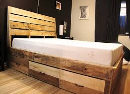 Image of: Awesome Diy Platform Bed with Storage