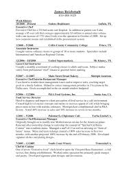 100 Resume For Cook Chef Resume Sample For Cook Astounding