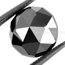 Brilliant Loose 2 Carat Rose Cut Black Diamond In Aaa Quality For Antique Style Engagement Ring