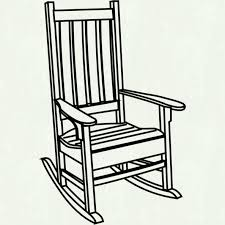chair clipart black and white clipart panda free clipart images