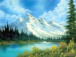 peaceful landscape paintings by bob ross bob ross paintings mountain waterfull 22